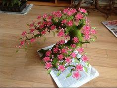 Como hacer un bonsai - Como hacer flores de cerezo  - Origami fácil - YouTube