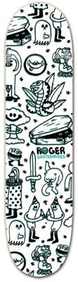 Roger Skateboards Doodler White 8.0 Skateboard Deck