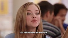On Wednesdays we wear pink. #meangirls