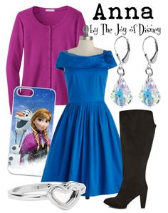 Outfit inspired by Anna from the movie Frozen!