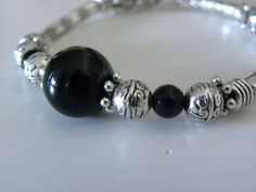 Black onyx bangle available at www.dreamweaverjewels.com Bangles, Bracelets, Black Onyx, Pandora Charms, Charmed, Jewelry, Jewlery, Jewerly, Schmuck