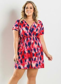 Vestido Estampado Plus Size - Marguerite
