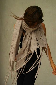 amazing handmade felted scarves by taiana giefer.