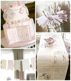 Vintage Book Themed Baby Shower via Kara's Party Ideas KarasPartyIdeas.com The Place For All Things Party! #girlbabyshower #bookparty #babyshowerideas #vintagebabyshower #bookbabyshower (1)
