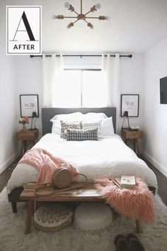☺️👑👙👔👡👜🎩😁☺️👙👕🧢 Small Guest Rooms, Small Master Bedroom, Master Bedroom Makeover, Guest Bedrooms, Master Suite, Bedroom Black, Cozy Small Bedrooms, Bedroom Neutral, Master Room