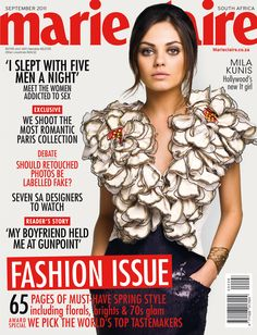 Marie Claire South Africa, September 2011 - Mila Kunis