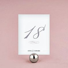 """Personalized """"Classic Script"""" Table Number Cards (Set of 12)"""