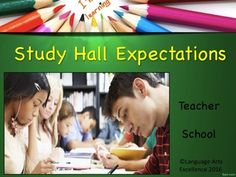 If you have ever run a study hall before, you know how important it is to set behavioral expectations from day one. This fully modifiable powerpoint presentation goes over all the rules you need for a successful, quiet study hall. Powerpoint takes about 20-30 minutes to present and ends with an interactive question/answer session to make sure your students were listening.  This powerpoint is a MUST for all teachers with study hall duty!