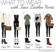 faux leather pants outfit ....inspiration