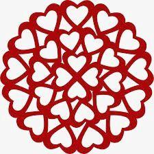 Amor de papel cortado, Paper-cut Creativa, Paper-cut Amor Rojo, Paper-cut En Forma De Corazon Imagen PNG