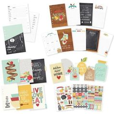 Simple Stories 89 9 Recipe Planner Insert