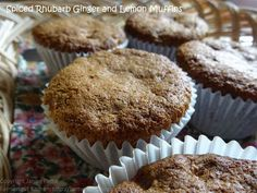 Farmersgirl Kitchen: Spiced Rhubarb and Lemon Muffins