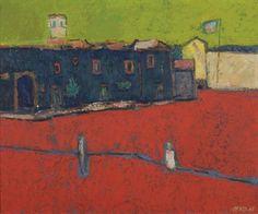 Willem Oepts (DUTCH, 1904-1988) Dorpsplein, 1965