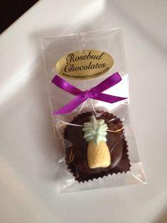 Dark Chocolate Hand Dipped Pineapple Oreo Cookie Candy Favors... www.rosebudchocolates.com