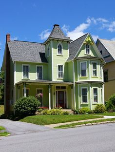 The (Pistachio) Green Victorian House... Bellefonte, PA
