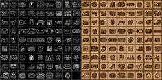 mayan glyphs vector by ikarusmedia
