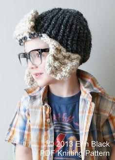 Ravelry: Chunky Bomber Hat (Hat010) pattern by Erin Black