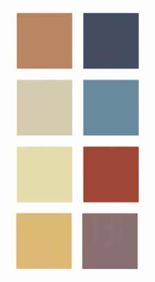 """A Suggested """"Zen"""" Colour Palette: -notice cream, slate blue, and rust orange next to one another! Living Room Color Schemes, Blue Color Schemes, Colour Pallete, Living Room Colors, Color Palettes, Living Rooms, Brown And Cream Living Room, Zen Colors, Natural Colors"""