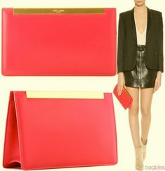Wootocracy is the place to play & inventorize with everything you own. Check out this product, and be it's brand ambassador! Ysl Handbags, Pink Bar, Cerise Pink, Brand Ambassador, Calf Leather, Calves, Yves Saint Laurent, Heaven, Play