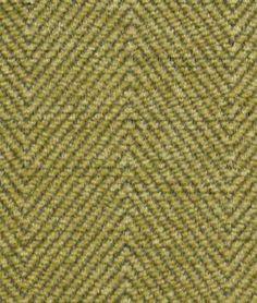 Robert Allen @ Home Sweater Fools Gold Fabric - olive green herringbone upholstery fabric - $19.40/yd