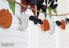 Make a Halloween Salt Dough Garland with your kids this halloween! An easy and fun craft to bring a little festive halloween spirit to your home. Halloween Garland, Halloween Party Games, Halloween Festival, Holidays Halloween, Halloween Crafts, Halloween Decorations, Pumpkin Decorations, Halloween Ideas, Halloween Costumes