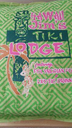 Tiki Lounge Throw Pillow by Dean Miller Surf Bedding Lime Hawaii Jims in Home & Garden, Home Décor, Pillows   eBay