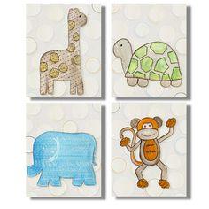 Organic Safari Animals set of 4