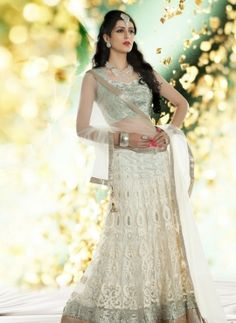 Designer Off White Bridal Lehnga Choli