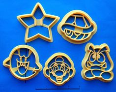 Super Mario Super Set of Cookie Cutters by WarpZone on Etsy, $26.00