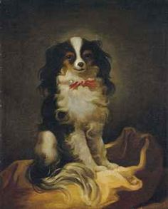 FRENCH SCHOOL - Eighteenth century - Portrait of a Cavalier King Charles Spaniel -  oil on canvas, 55.5 x 45.5 cm. (21 7/8 x 17 7/8 in.).