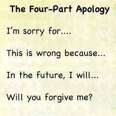 The Four Part Apology; how to help your kids learn to apologize. Best apology … – EmmyMom The Four Part Apology; how to help your kids learn to apologize. Best apology … The Four Part Apology; how to help your kids learn to apologize. Behaviour Management, Classroom Management, Parenting Advice, Kids And Parenting, Peaceful Parenting, Gentle Parenting, Parenting Books, Teaching Kids, Kids Learning