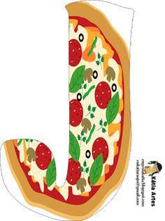 pizza alphabet