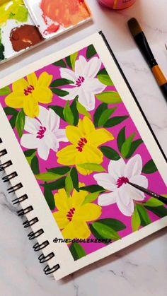 Art Painting Tools, Art Painting Gallery, Gouache Painting, Indian Art Paintings, Flower Paintings, Watercolor Flowers, Watercolor Brushes, Watercolors, Watercolor Paintings For Beginners