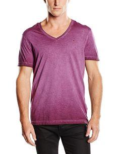 Klassisches Hilfiger Denim Panson T-Shirt, aus Baumwolle in melierter Optik und mit einem V-Ausschnitt. Das Logostitching befindet sich auf der Brust.100% Baumwolle...