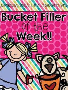 Bucket Filler of the Week Book FREEBIE