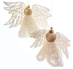 Tutorials   Urban Threads: Unique and Awesome Embroidery Designs Diy Christmas Angel Tree Topper, Victorian Christmas Ornaments, Christmas Angels, Christmas Tree Decorations, Christmas Crafts, Freestanding Lace Embroidery, Sewing Machine Embroidery, Urban Threads, Sunday School Crafts