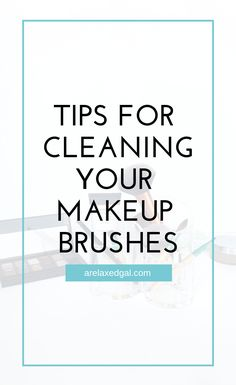 If you're having issues applying your makeup or your skin is breaking out you may want to see if your brushes are dirty and need a good cleaning. If so, here's an easy way you can clean them. | A Relaxed Gal