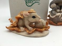 Darling Lot 3 Charming Tails Figurines Snowplow Mice In Acorn Fall Leaves 2 •…