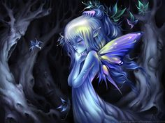Dew Fairy by Anna Ignatieva We the Fairies, blithe and antic, Of dimensions not gigantic, Though the moonshine mostly keep us, Oft in orchards frisk and peep us. ~Thomas Randolph