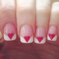 Manicure nail art is the most famous ans preferred form of nail art. Check out some ideas and techniques to do manicure nail art. Love Nails, How To Do Nails, Pretty Nails, My Nails, Dream Nails, Pink Nails, French Nails, Valentine Nail Art, Nagel Hacks