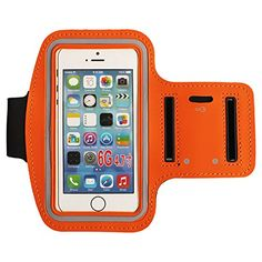 Water Resistant Sports Armband with Key Holder for iPhone Galaxy iPhone SE, Bundle with Screen Protector (orange) Galaxy S3, Iphone Se, Screen Protector, This Or That Questions, Orange, Sports, Key, Amazon, Water