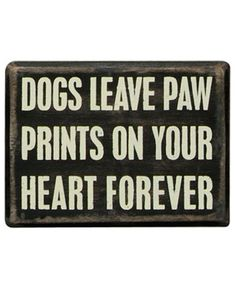 Small Box Sign - Dogs Paw Prints