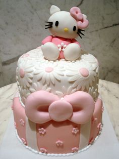 ...Hello Kitty b'day cake.