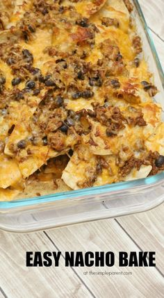 Easy Nacho Bake Recipe Makes Dinner Quick. Looking for quick and easy dinner ideas? Try our easy nacho bake recipe! It's a family favorite! Looking for quick and easy dinner ideas? Try our easy nacho bake recipe! It's a family favorite! Fast Easy Dinner, Quick Dinner Recipes, Quick Easy Meals, Appetizer Recipes, Appetizers, Dessert Recipes, Desserts, Fast Dinners, Cheap Dinners
