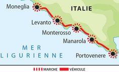 Itinéraire du voyage Randonnée dans les Cinque Terre