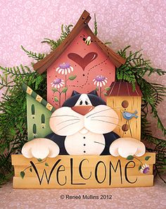 #136 Kitty Birdhouse Welcome