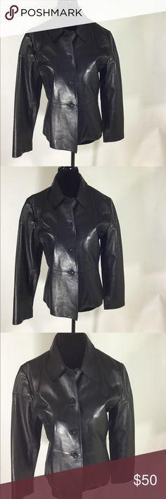 Banana Republic leather jacket Banana Republic leather jacket  leather is very soft and smooth gently used almost new.  Length 24' Sleeves 28' Pit to pit 18' Banana Republic Jackets & Coats