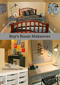 Transforming my son's little-boy room into a cool space for an almost-teen. Easy, inexpensive ideas, DIY, and furniture finds.