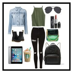 """""""2."""" by courtneyjwotherspoon on Polyvore featuring Topshop, 3x1, Dr. Martens, Gucci, Quay and Marc Jacobs"""