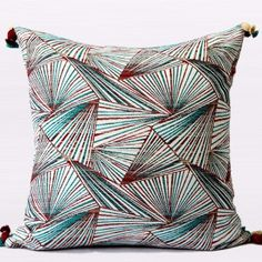 "Luxury Changing Pattern Tassels Pillow 20""X20"""